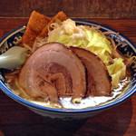 麺や 樽座 - 【限定】「樽ジロー」800円(横)