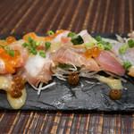 63382950 - 天然鮮魚3種類のカルパッチョ 980円