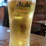 八王子酒場 情熱ホルモン - 生ビール二杯目