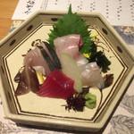 63393694 - ②御造り 旬の鮮魚五種盛り