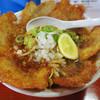 三木ジェット - 料理写真:バリかつジェット  ざく切りタマネギグッド  かつが薄めで食べやすく デフォでそこそこ辛いスープと合ってる