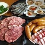 こばと園 - 海鮮サーロインBBQコース
