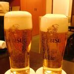 日本料理 いらか - ヱビス生ビール(中)