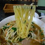 中華 百華園 - 中太ちじれ麺