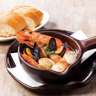魚介類をガツンとボリューム満点でオイル焼き!!