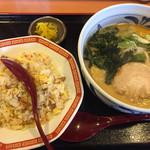 のっぴんらー麺 - のっぴんラーメン 半チャーハンセット  720円