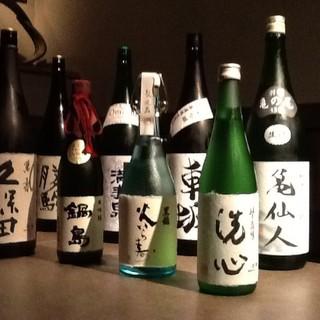こだわりの日本酒を約40種取り揃えておりますが…