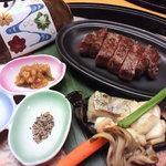 6341258 - 夕食☆焼物ちょいす(白老牛ロースステーキ)