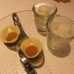 ヴォーロ・コズィ - レモンのグラニテ、ホワイトチョコレートにキャラメル