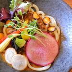 侍.うどん - 一期一会の「侍.カレーうどん」 +野菜増し