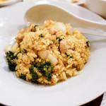 焼鳥 ブロシェット - カレー風味特製炒めご飯普通盛り。