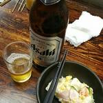 63415765 - ビール大瓶360円+ポテサラ300円