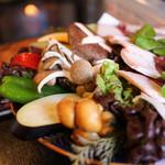 仙人小屋 - 大きな野菜がたっぷり☆