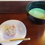 63418479 - 和菓子と抹茶セット