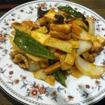 安安食堂 - 四川風豆腐と豚肉の炒め