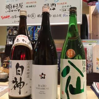 地元佐賀の日本酒はもちろん青森のレア酒まで!
