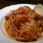 ウ・パドリーノ - チョリソとひよこ豆のトマトソース