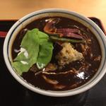 角中うどん店 - 2017/03/03 たっぷり野菜の黒カレーうどん 820円