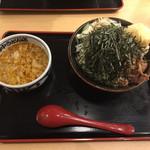 角中うどん店 - 2017/03/03 肉つけうどん 半熟たまご付き 880円