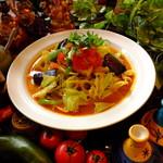 パンチマハル - さらさら野菜カレーをフォーの麺で