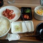 国産牛焼肉くいどん - どん太カルビセットレギュラー(980円)
