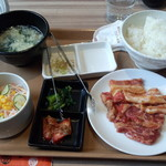 国産牛焼肉くいどん - サービスランチ焼き肉セット(780円)