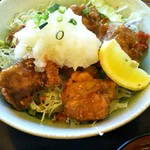 満天食堂 - からあげサラダおろしポン酢定食