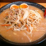 63434840 - 味玉のせ(味噌ラーメン/太麺)820円