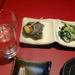 日本酒と蕎麦 中野いざ宵 - お通し