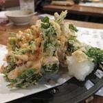 鯛之鯛 - 春野菜と若ごぼうかき揚げ