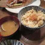 鯛之鯛 - 鯛味噌と筍ご飯
