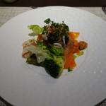 ボナ フェスタ - 海の幸と野菜の盛り合わせサラダ