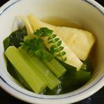 我路 - 若芽とタケノコとフキの煮物