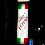 カフェファド - イタリアンカラーのサイン