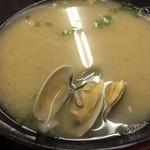 水産食堂 - 特大アサリ味噌汁