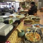 水産食堂 - 大皿料理は自分で盛って自己申告