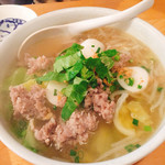 63448961 - タイ風豚ひき肉ラーメン ¥600