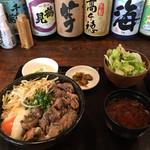 日本橋 ぼんぼり - 塩炭火焼親子丼の大盛り('17/03/04)