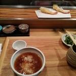 あかし - ランチ 定食 1200円(土曜日利用) 海老2 野菜2 魚2