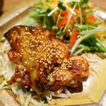 マルニカフェ - 鶏と茄子の照り焼き