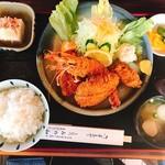みの和 - エビ&ヒレミックス定食¥1550