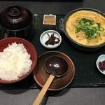 竈炊き立てごはん 土井 - 甘きつねと九条葱の卵とじ膳