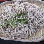高尾山 とろろそば・とろろめしの日光屋 - とろろ芋の天ぷらそば(蕎麦アップ)
