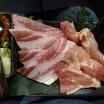 63460194 - 大山鶏と豚カルビ