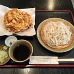 喜長庵 - 料理写真:かき揚げざる蕎麦、1100円です。