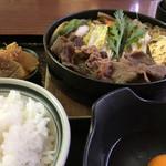 すき焼 加茂川 - すき焼き鉄鍋ランチ