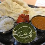 ガネーサ - 料理写真:マトンカレーとマトングリーンサグカレーのスペシャルセット