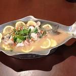 クロープクルア - 白身魚のライム蒸し