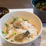 宇豆基野 - 2017.3 かき御飯、昆布煮、赤出汁