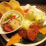 タイ居酒屋ダイニング ロータス - 前菜4種の盛り合わせ